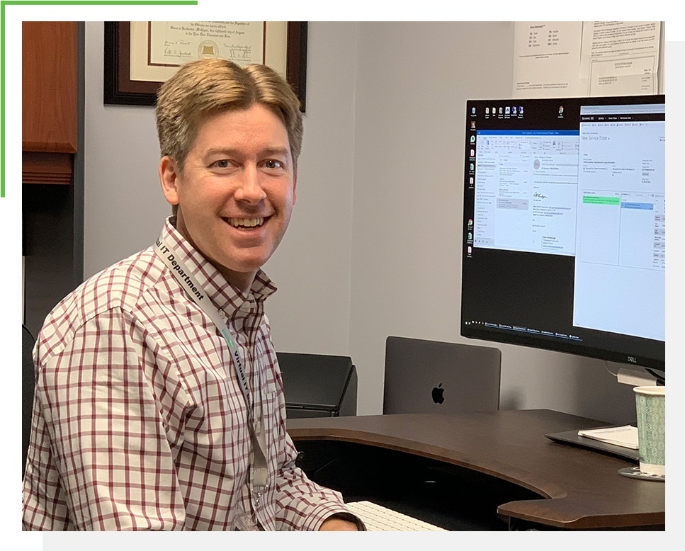 Photo of Dave Goodenough at the office