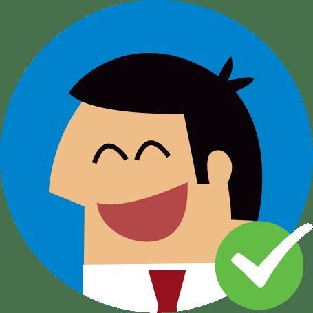 Happy employee graphic